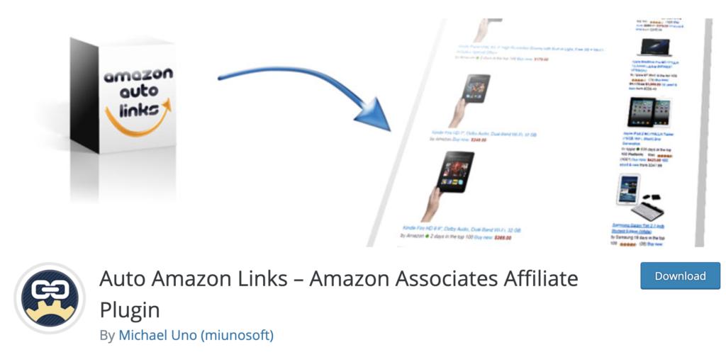 Amazon AutoLinks Amazon Affiliate wordpress plugin