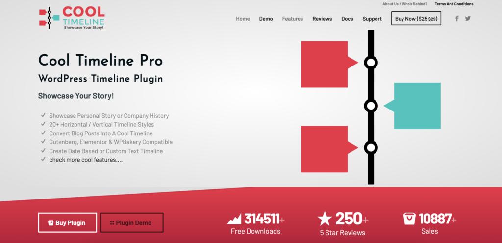Cool Timeline for WordPress infographics