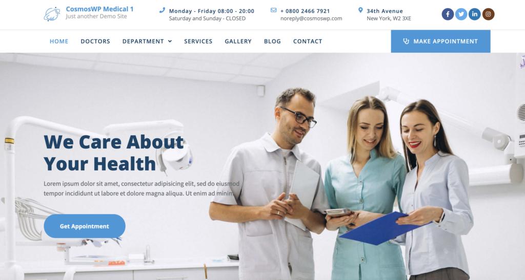 CosmoWP medical WordPress theme