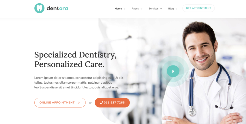 Dentora medical WordPress themes