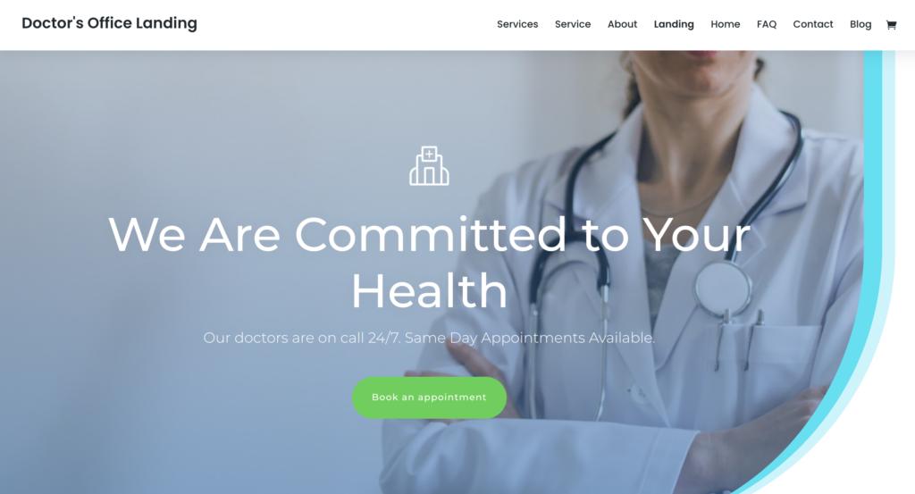 Divi medical WordPress theme