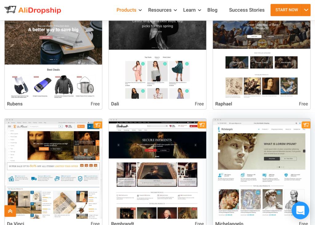 Dropshipping Themes For AliDropship-Based Stores