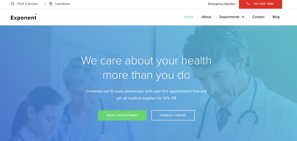 Exponent medical WordPress themes