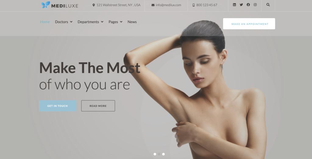 MediLuxe medical WordPress theme