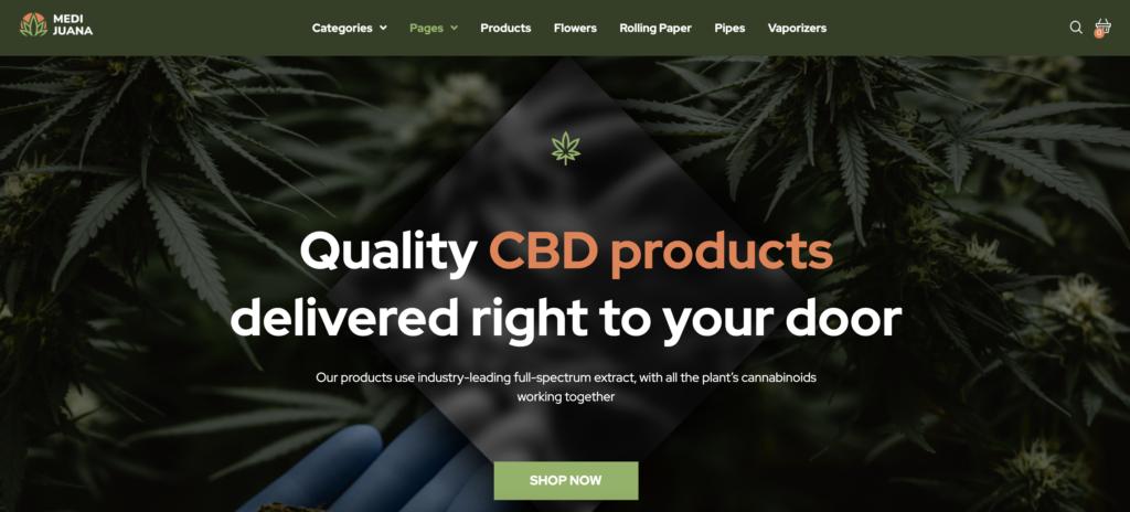 Medijuana medical WordPress theme