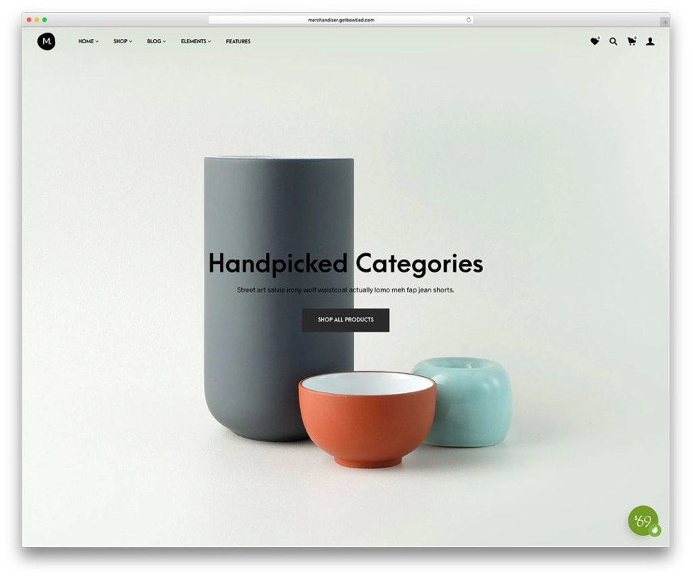 Merchandiser minimalist wordpress themes
