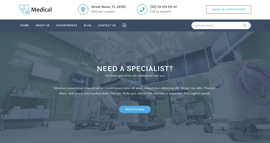 OceanWP medical WordPress theme
