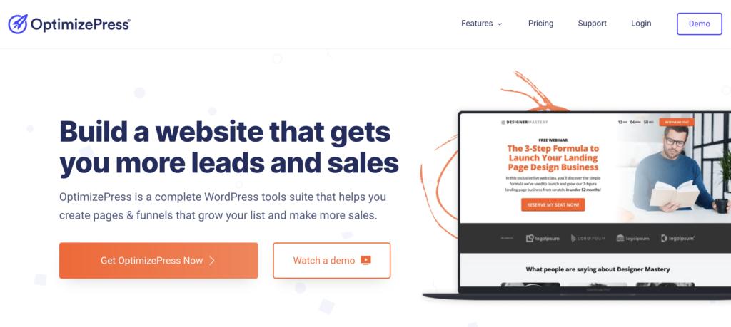 OptimizePress WordPress lead generation plugin