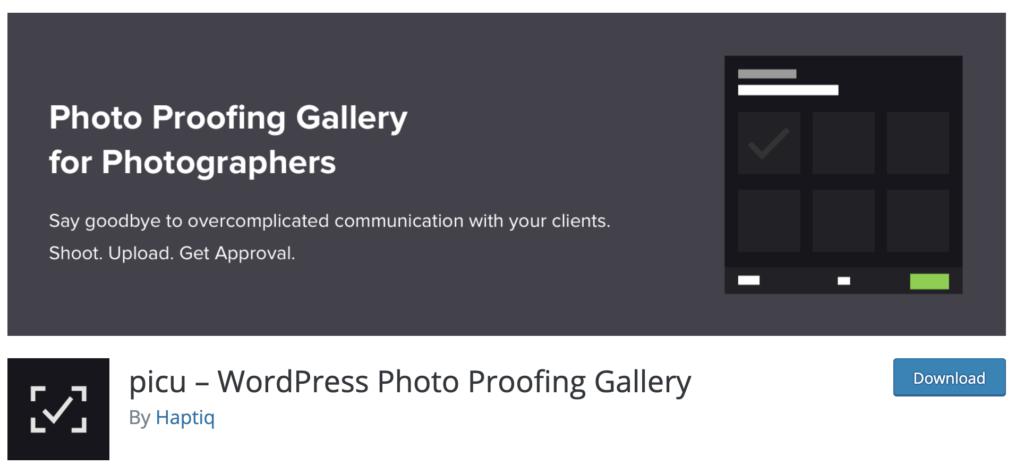Picu WordPress plugins for photographers