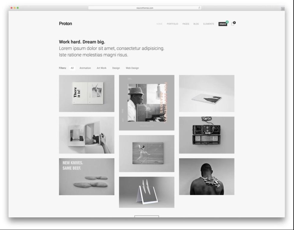 Proton minimalist wordpress themes