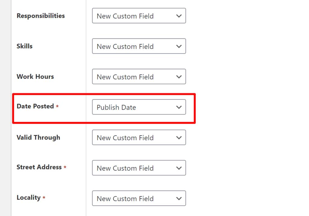 Schema Pro - custom fields