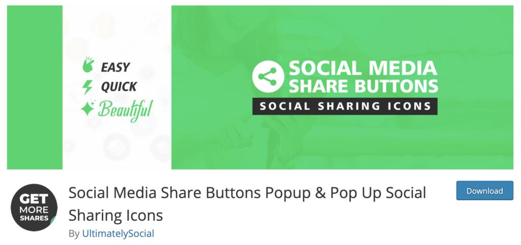 Social media Buttons WordPress plugins for photographers