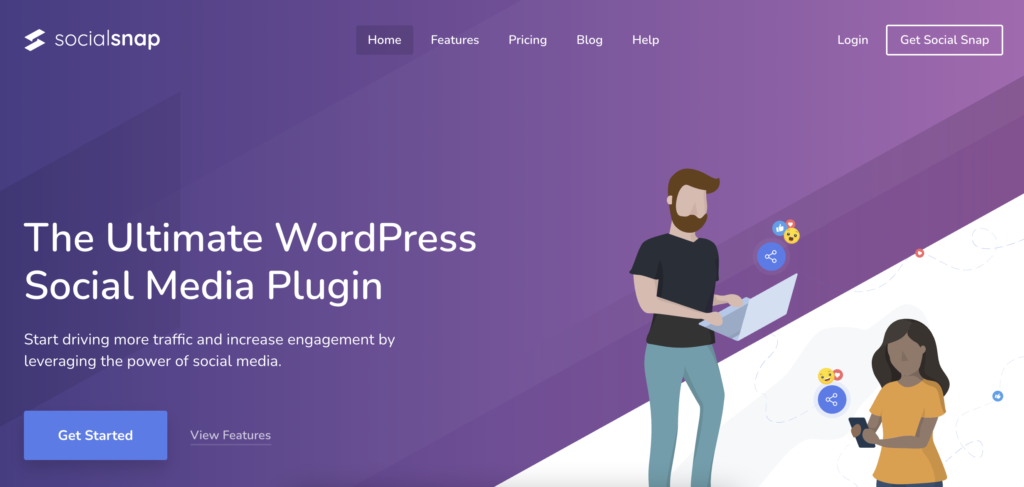 Social Snap WordPress LinkedIn plugin