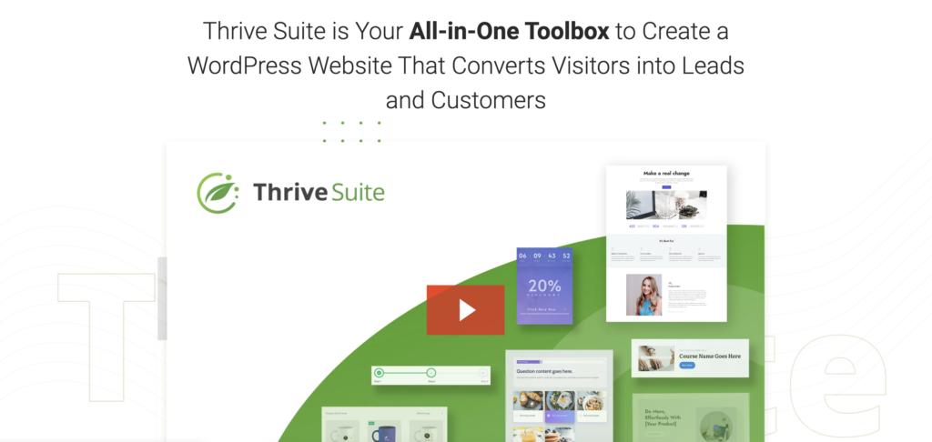 Thrive Suite WordPress lead generation plugin