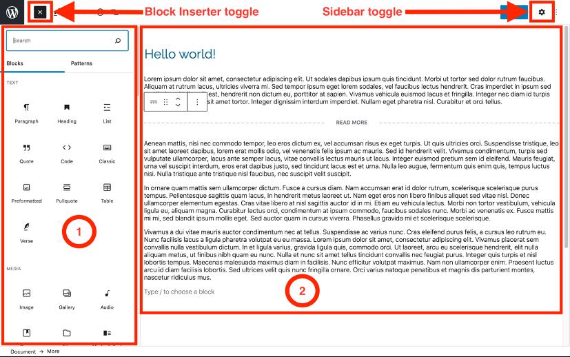 Learn Your Way Around WordPress block editor