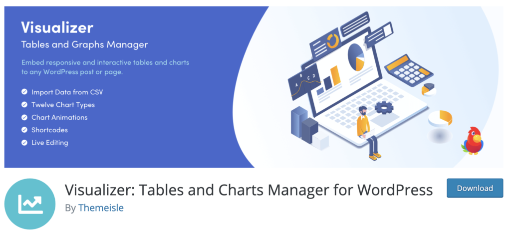 Visualizer for WordPress infographics