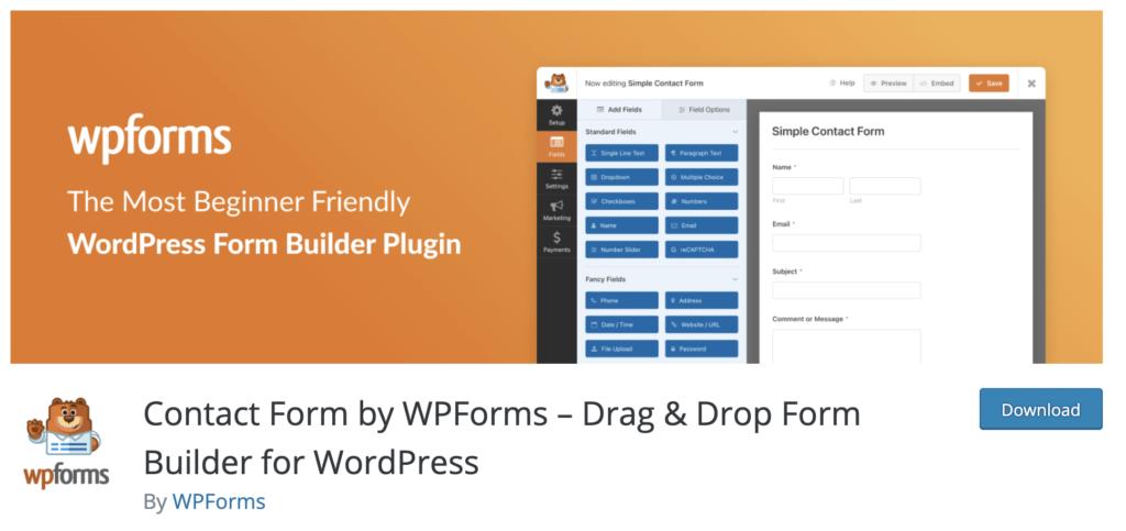 WPForms WordPress plugins for photographers