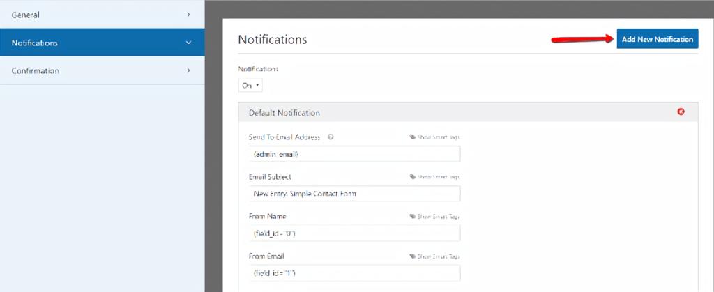 WPForms - add new notifications