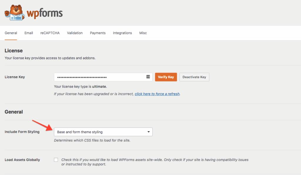 WPForms - customize contact forms