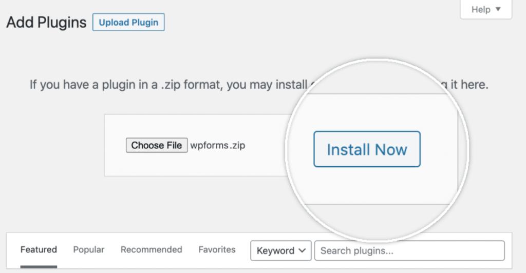 WPForms - install