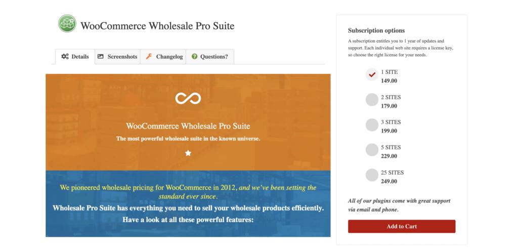 WooCommerce Wholesale Suite Pro