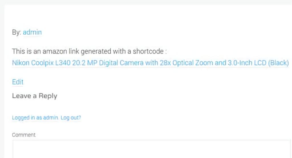 AAWP - amazon link shortcode