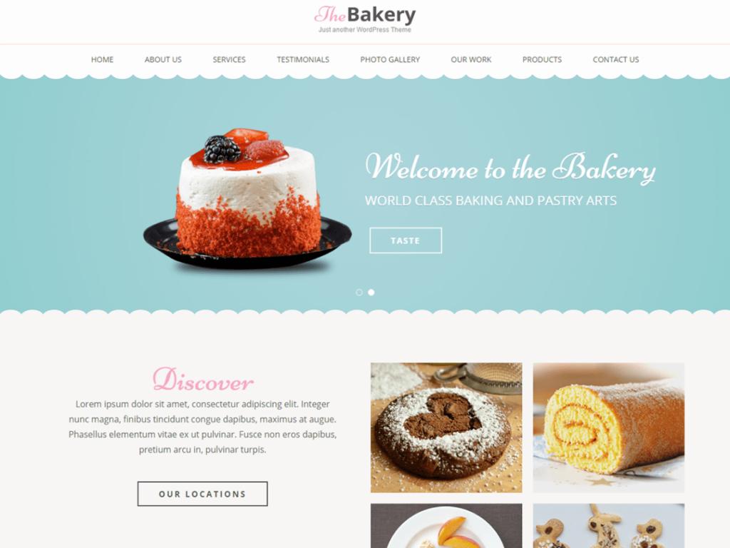 Bakes and Cakes restaurant wordpress theme
