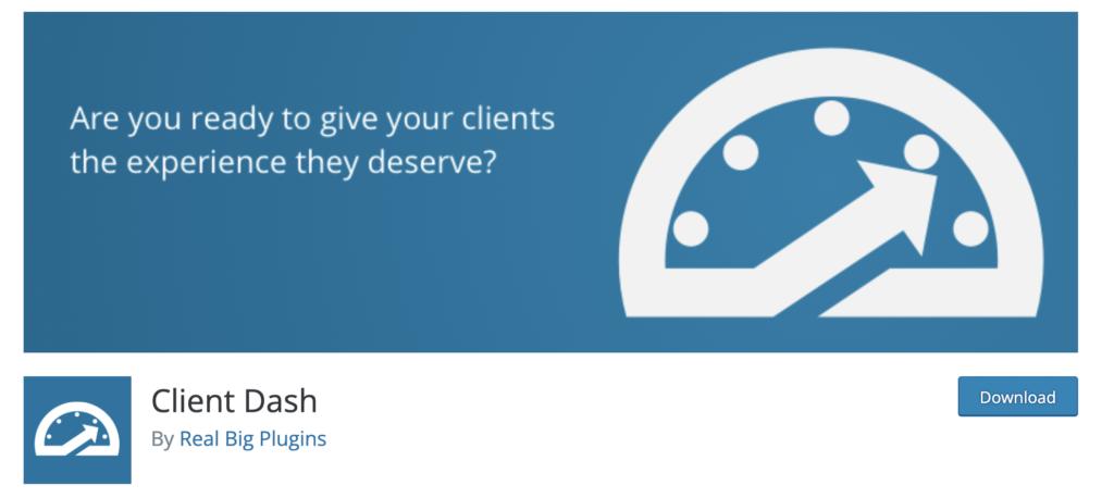 Client Dash WordPress admin theme