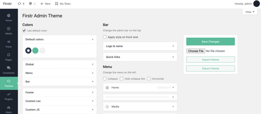Firstr WordPress admin theme