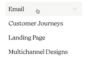 Mailchimp - choose campaign