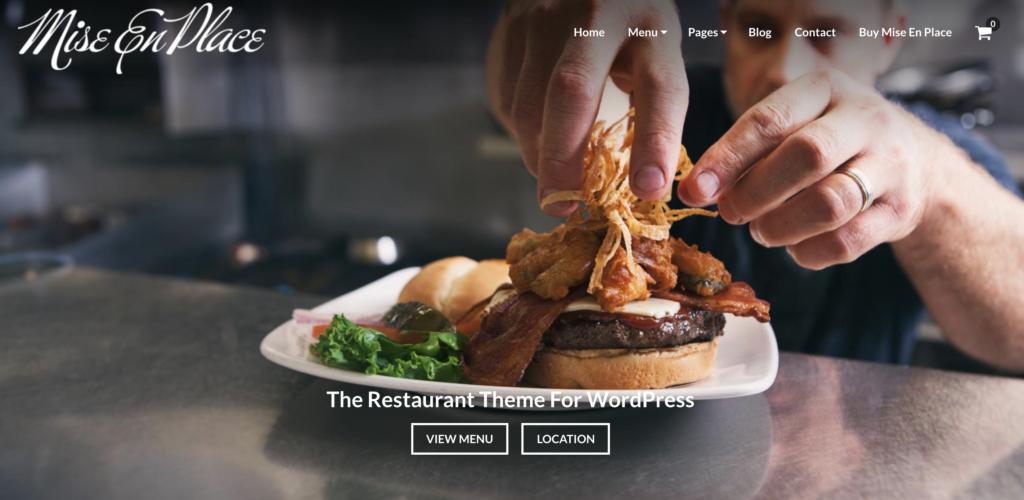 Mise restaurant wordpress themesEn Place