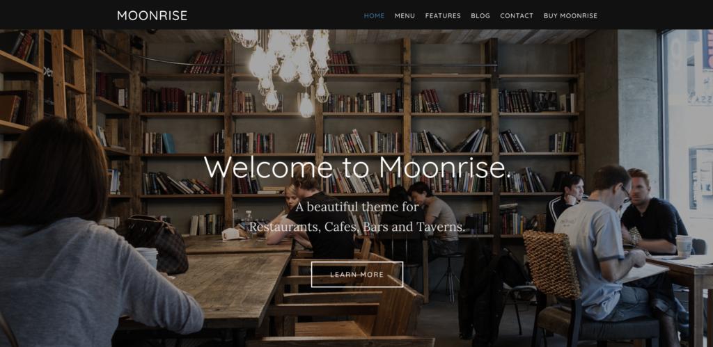 Moonrise restaurant wordpress themes