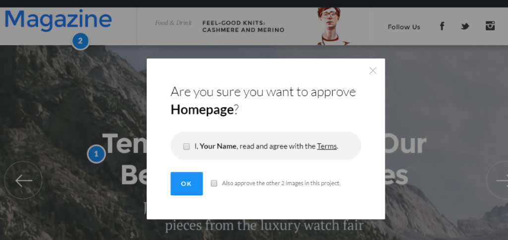 Project Huddle - approve homepage