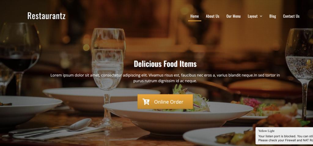 Restaurantz restaurant wordpress themes