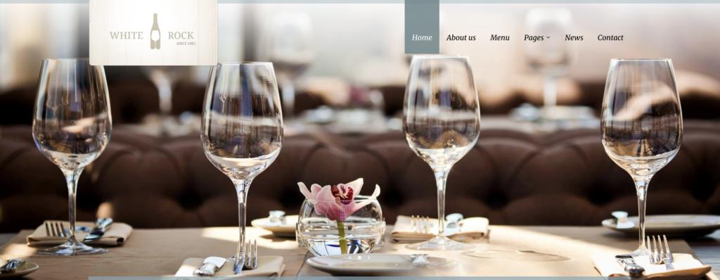 White Rock restaurant wordpress themes