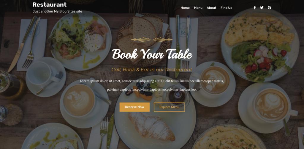 Yatri restaurant wordpress theme