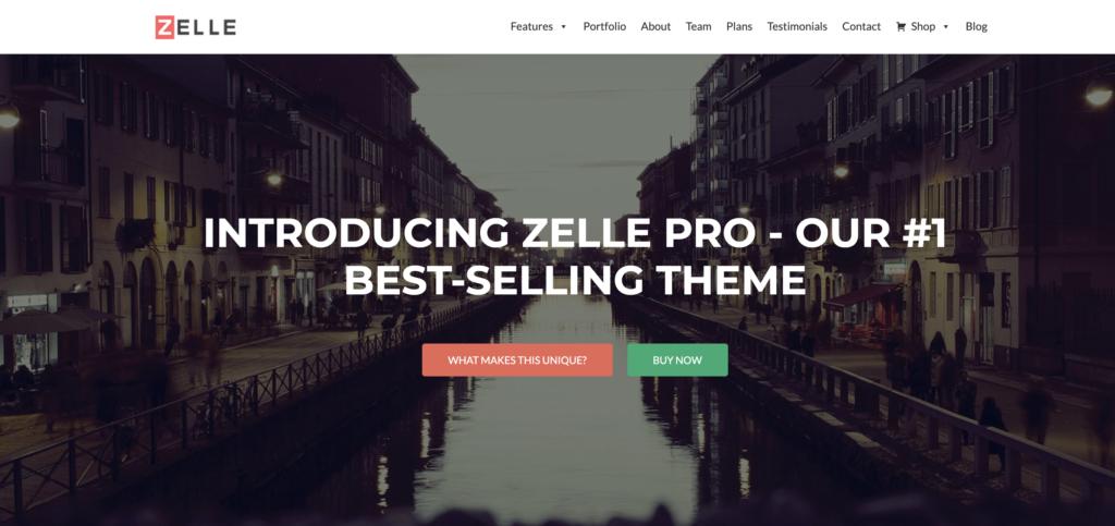 Zelle restaurant wordpress theme